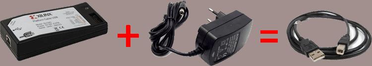 کابل USB به جای پروگرامر و ادپتور