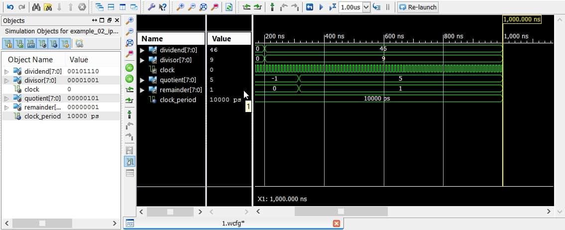 نمایش نتیجهی شبیهسازی در نرمافزار ISim