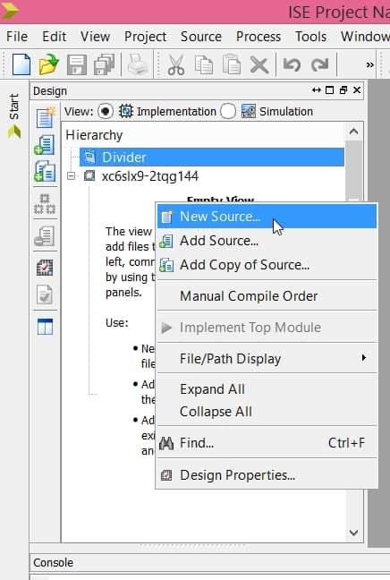 نمایش نحوهی اضافه کردن IP به پروژه