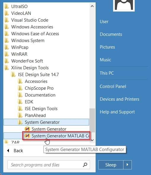 SysGen-MATLAB Configurator