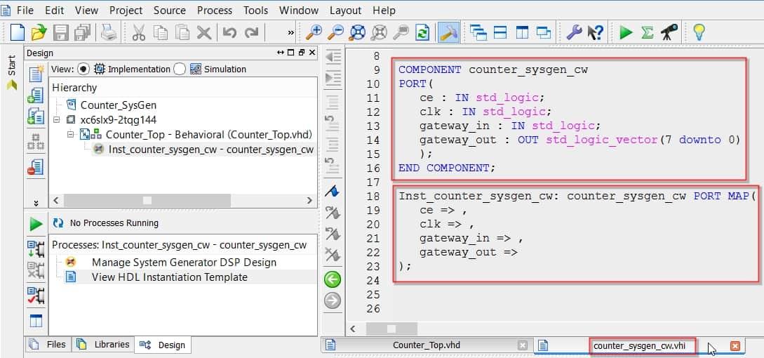 نمایش دو بخش اصلی فایل نمونهی Instant کردن IP