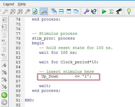 نمایش مقداردهی ورودی UP_Down