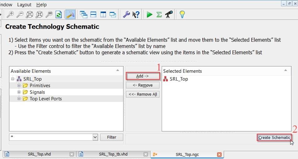 نمایش نحوهی ساخت شماتیک بلوک SRL_Top