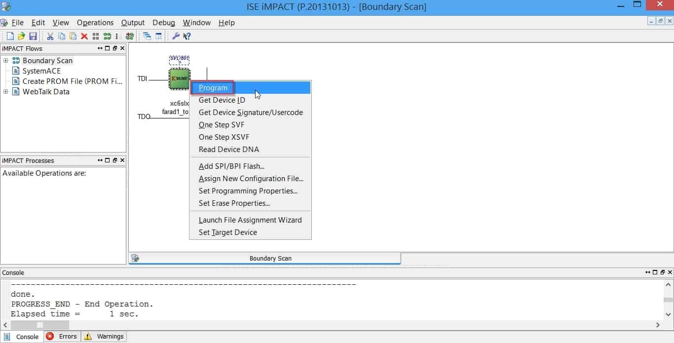 نمایش نحوهی پروگرام کردن FPGA