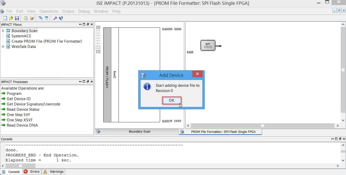اضافه کردن SPI PROM برای پراگرام کردن آن