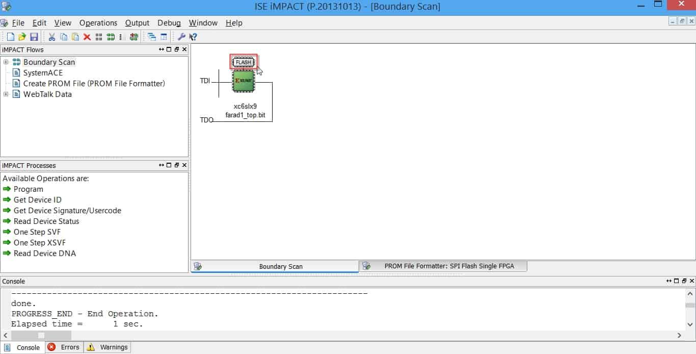 نمایش حافظهی فلش در زنجیرهی سختافزاری