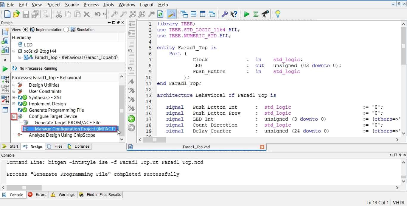 اجرای نرمافزار iMPAC از دل نرمافزار ISE