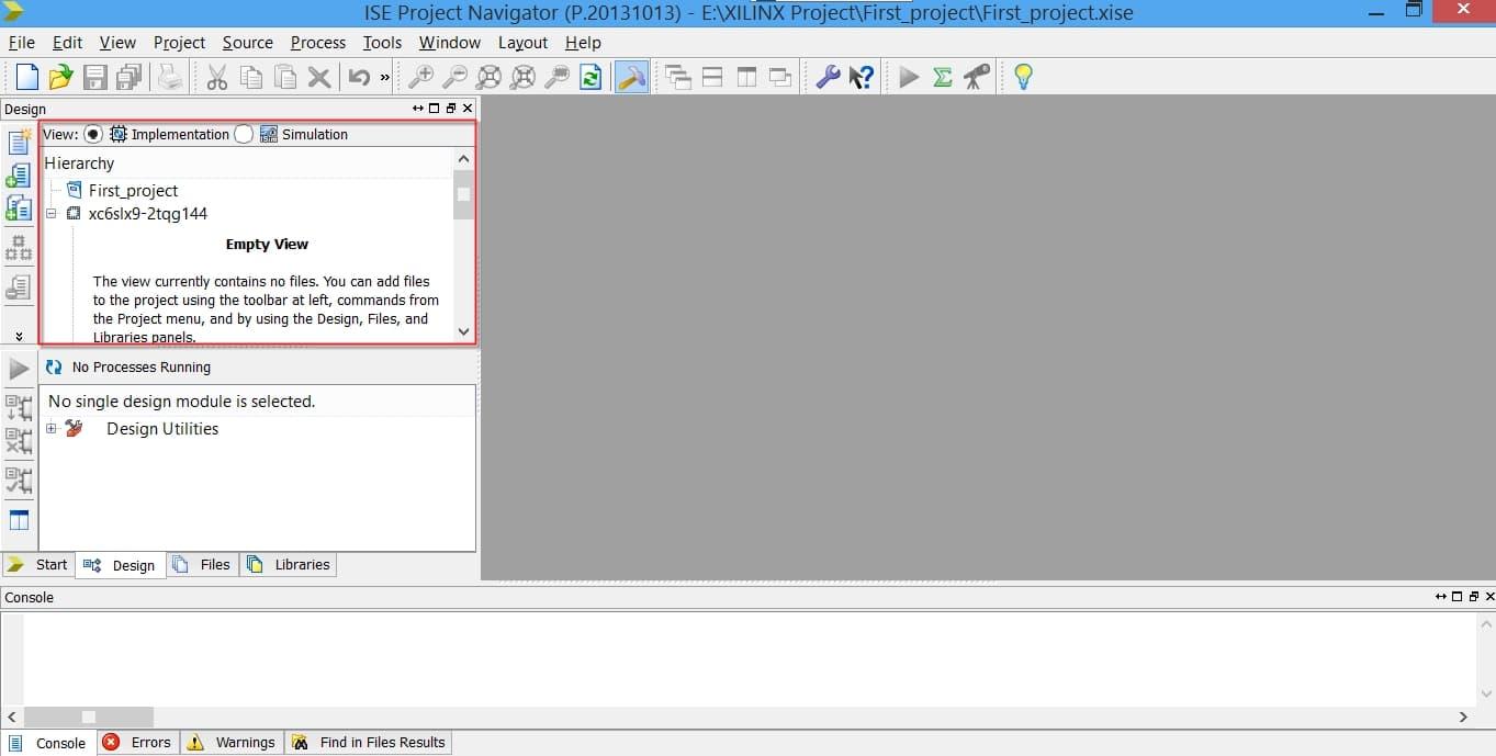 پنجرهی Hierarchy در نرمافزار ISE