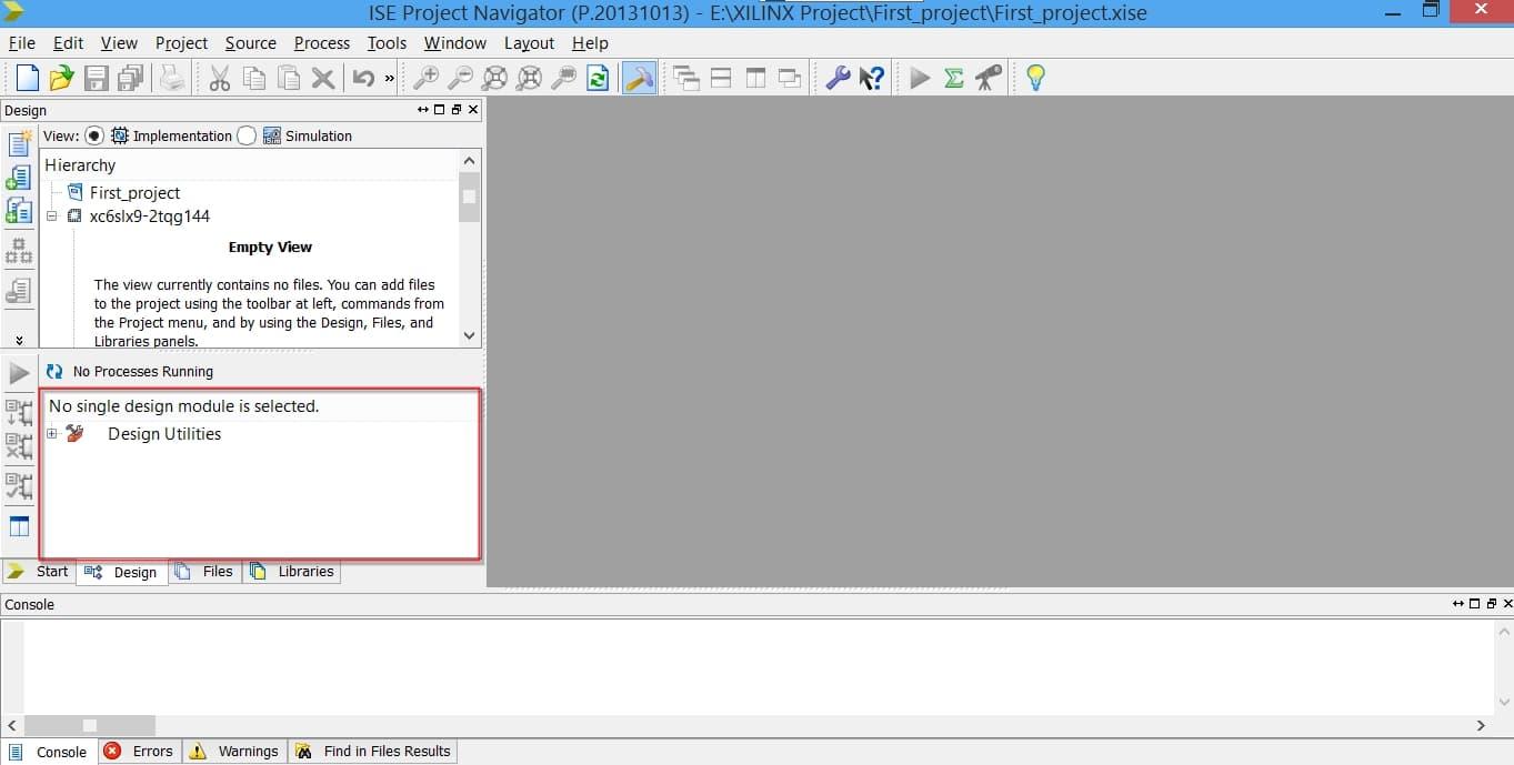 پنجرهی Process در نرمافزار ISE
