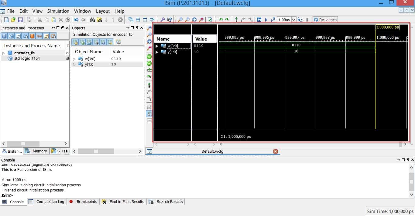 محیط نرمافزار شبیهساز ISim از مجموعهی نرمافزاری ISE