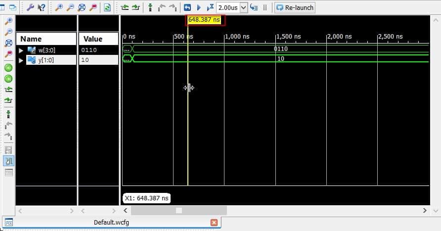 بزرگنمایی بخشهای دلخواه از شبیهسازی در نرمافزار ISim