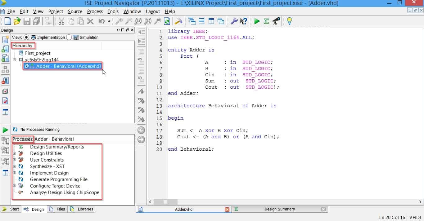 منوی Process در نرمافزار ISE