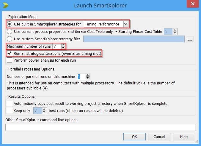 انجام تنظیمات مربوط به روش SmartXplorer