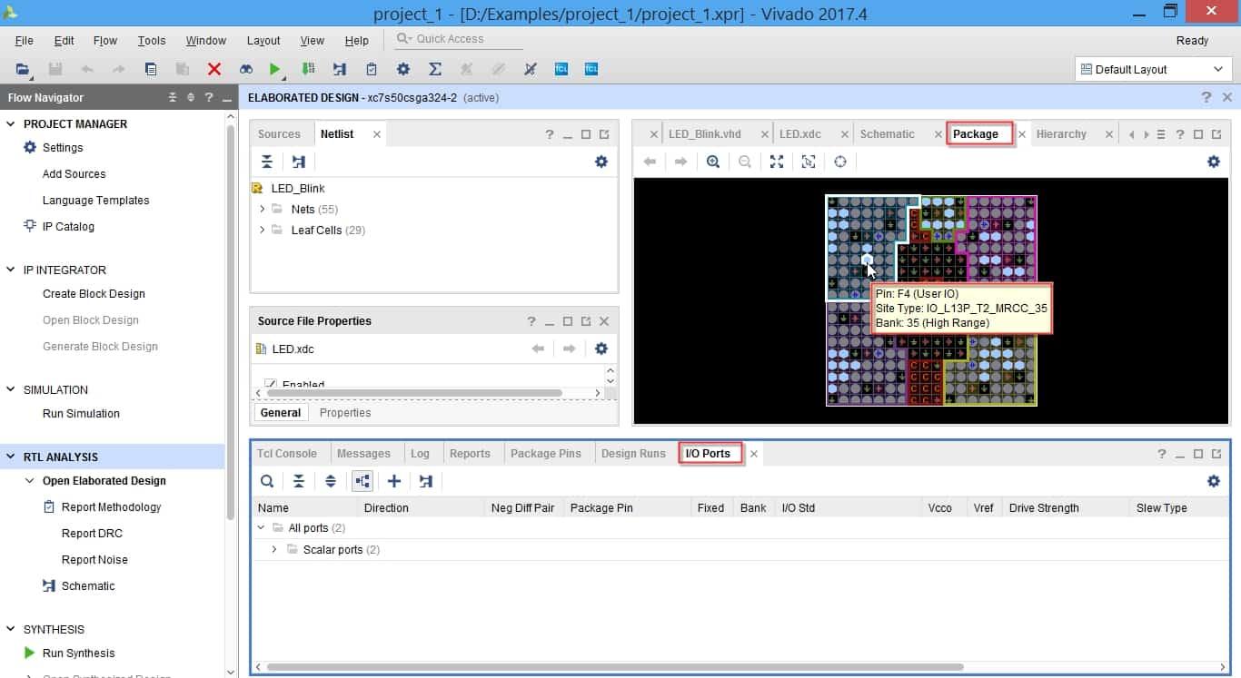 پنجره Package در نرمافزار ویوادو