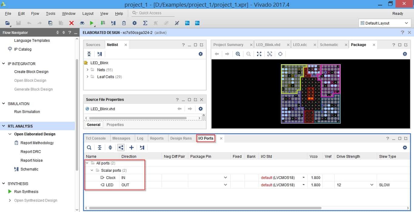 پنجره I/O Ports در نرمافزار ویوادو