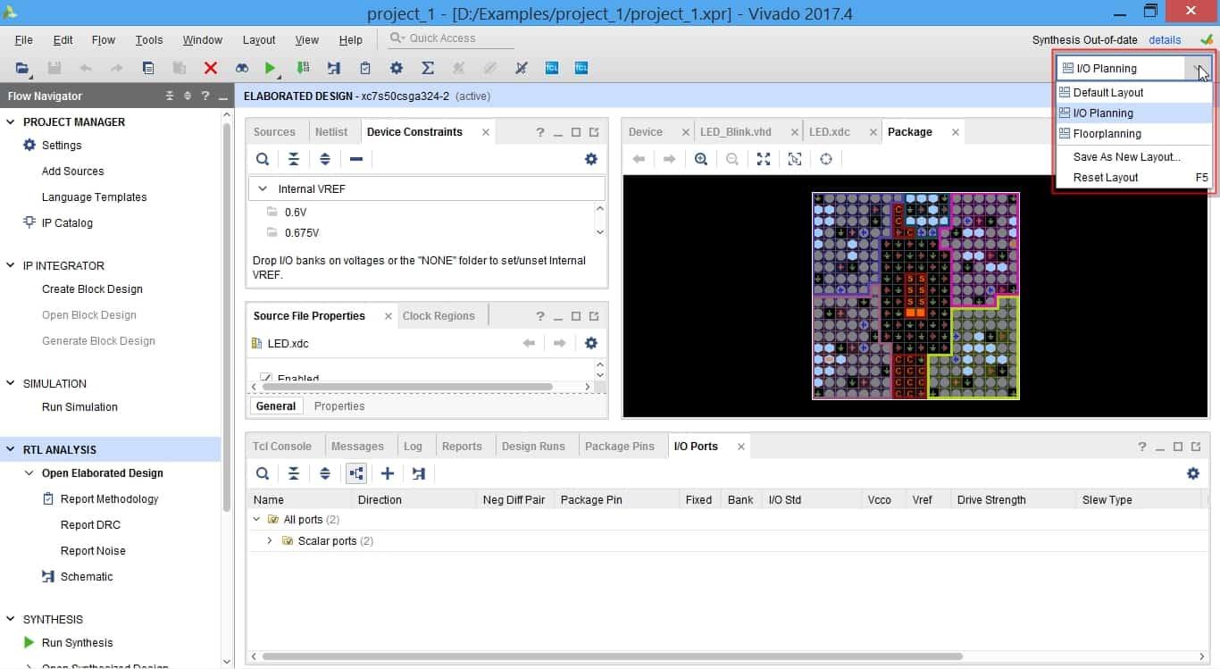 تعیین Layout صفحه در نرمافزار ویوادو