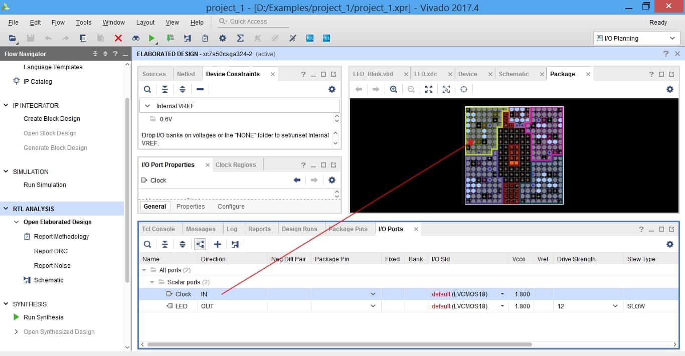 عملیات pin assignment در نرمافزار ویوادو به روش Drag & Drop
