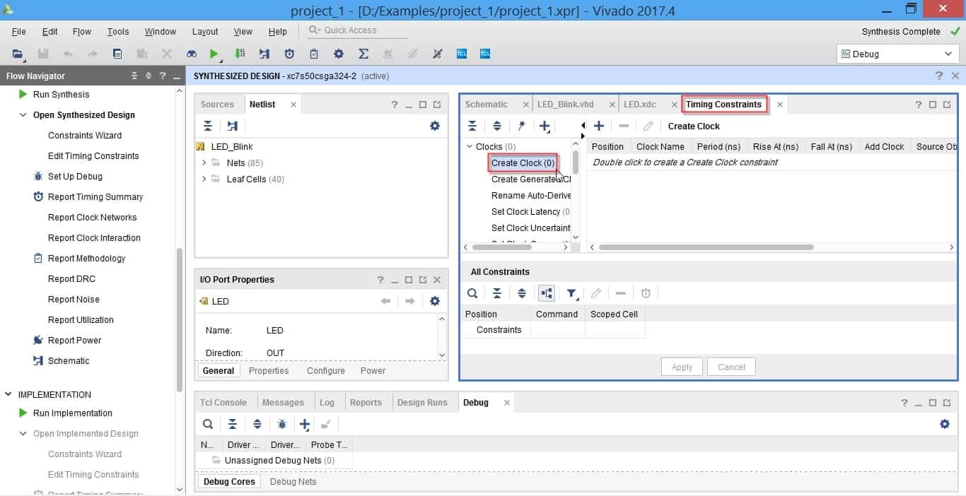 مراحل تعیین قیدهای زمانی در نرمافزار ویوادو