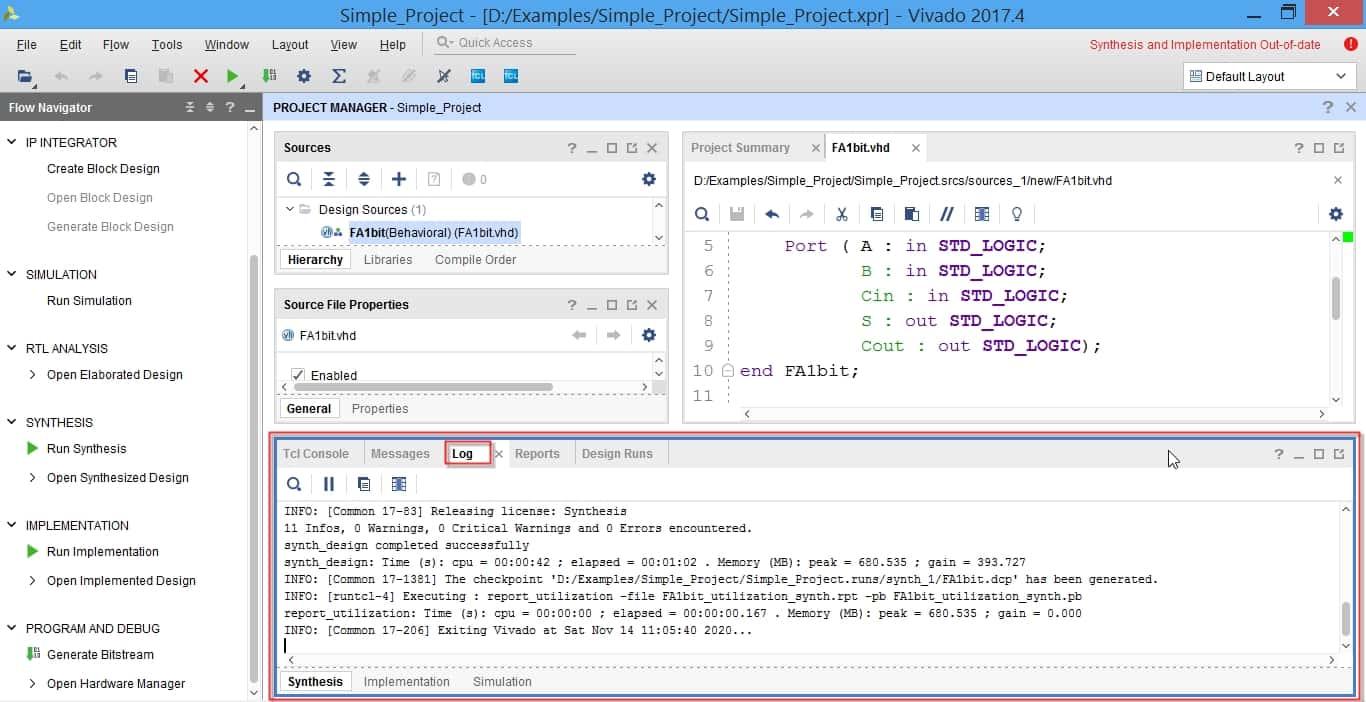 مشاهده خطاها در قسمت log نرمافزار ویوادو