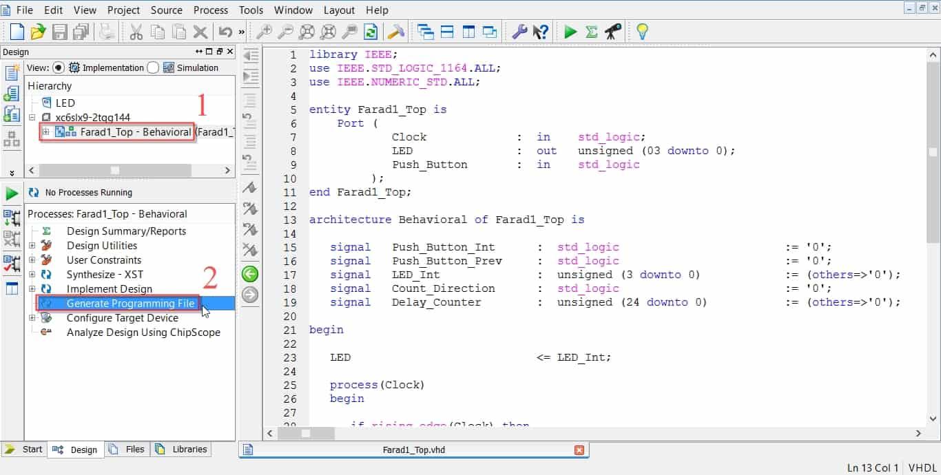 ساخت بیتفایل در نرمافزار ISE