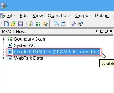 مراحل ساخت فایل MCS از روی بیتفایل در نرمافزار iMPACT