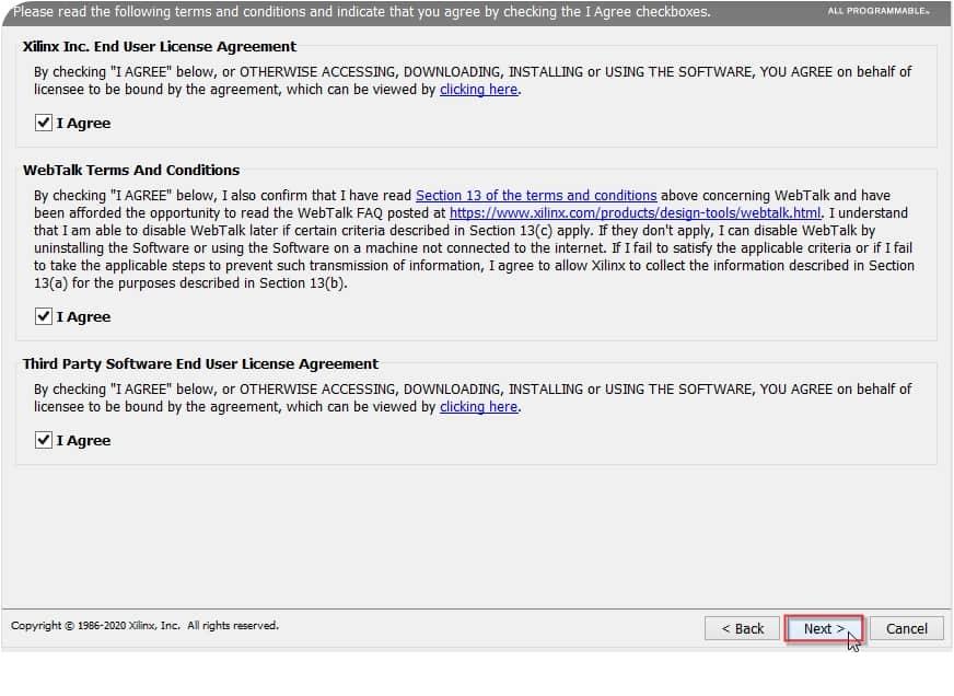 توافقنامههای مربوط به نصب نرمافزار ویوادو