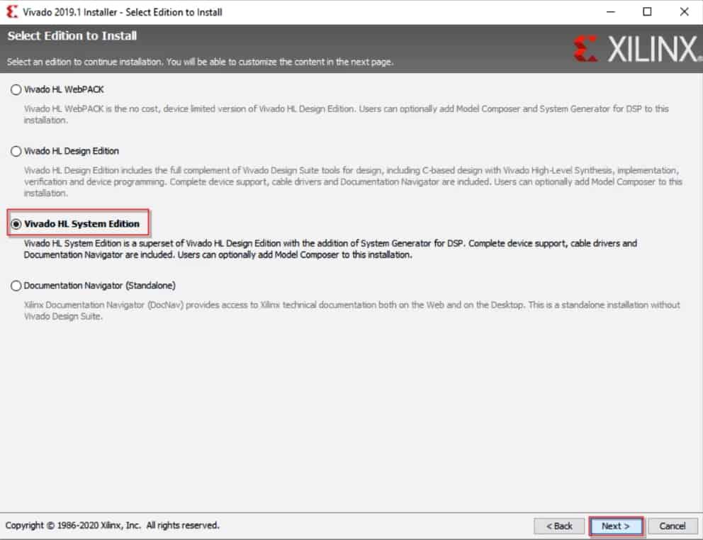 انتخاب نسخهای از نرمافزار ویوادو برای نصب